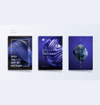 abstract cover template set with trendy 3d twisted vector image vector image