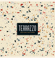 abstract terrazzo tiles pattern background vector image