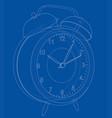 alarm clock sketch vector image vector image