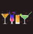 americano cocktail galaxy magic moscow mule vodka vector image vector image