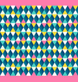 Argyle seamless pattern four color options vector image