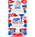 banner for football college league club vector image vector image