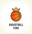 basketball king logo vector image vector image