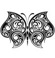 Black butterfly vector image vector image