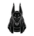 black contour drawing of anubis on white vector image vector image