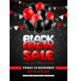 black friday sale advertising poster or flyer vector image