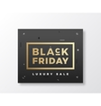 Black Friday Swiss Style Minimal Banner or Flyer vector image vector image