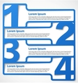 Blue abstract numbered banners vector image