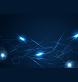 blue neon glowing laser beams stripes background vector image vector image
