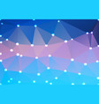 blue shades pink geometric background with lights vector image vector image