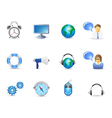 Blue website and internet icons vector image vector image