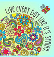 boho floral design with inspiring quote vector image
