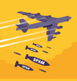 bomber and spam bombing vector image vector image