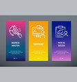 business analysis conference path to success vector image
