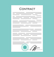 Business contract icon vector image vector image