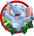cartoon funny elephant vector image vector image