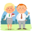 Cartoon office people - Coworkers vector image