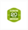 celebrating 20 years anniversary badge sign
