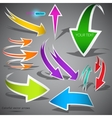 Colorful arrows on grey background vector | Price: 1 Credit (USD $1)