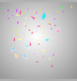colorful bright confetti isolated on transparent vector image vector image