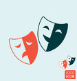 comedy and tragedy theatrical masks symbol vector image