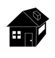 contour nice house with architecture design icon vector image vector image