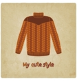 cute sweater old background vector image