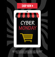 cyber monday electronic commerce design vector image