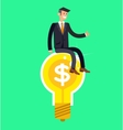 detailed character businessman found a vector image