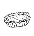 egg tart icon doodle hand drawn or black outline vector image vector image