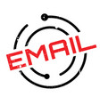 email rubber stamp vector image vector image