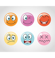 emoticons icons vector image vector image