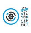 Euro Diagram Options Flat Icon with Bonus vector image vector image