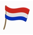 Flag of the Netherlands icon cartoon style vector image vector image