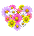 Flowers in the shape of heart vector image vector image