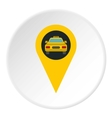 Geo taxi icon flat style vector image vector image