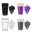 grape juice icon of for web vector image vector image