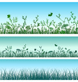 Green grass set vector image vector image