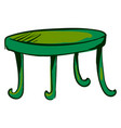 green table on white background vector image vector image