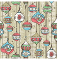 Grunge background with christmas balls vector image vector image