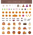 Halloween objects collection vector image