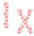 hand drawing ornamental alphabet letter ix vector image vector image
