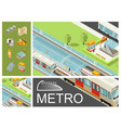 isometric metro colorful composition vector image
