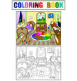 kids coloring on the theme of childhood room vector image vector image
