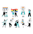 lgbtq person pride young people lgbt community vector image vector image