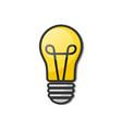 lightbulb - creative sketch draw vector image vector image