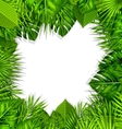 Natural Frame with Green Tropical Leaves vector image vector image