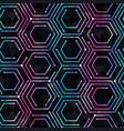 neon geometric seamless pattern vector image vector image