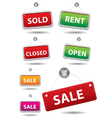 Open and closed signboard vector image vector image