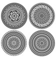 ornament monochromatic card with mandala vector image